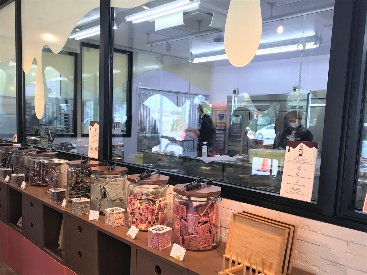 チョコレート菓子専門店改修工事のご紹介
